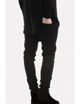Men Black Ripped Casual Skinny Jeans